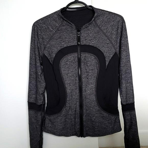 Lululemon Black and Grey Reversible Jacket
